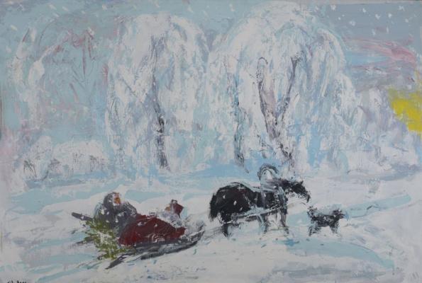 Анатолий Степанович Слепышев. Зима