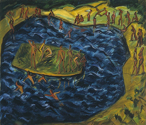 Erich Heckel. Bathing