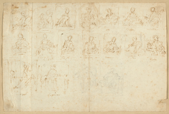 Jean Honore Fragonard. Sketches of