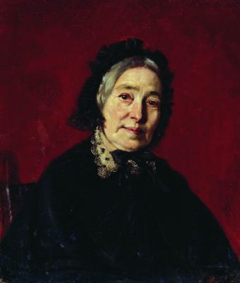 Sergeevich Firs Zhuravlev. Portrait of an old woman