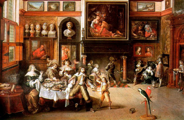 Frans Franken the Younger. The feast in the house