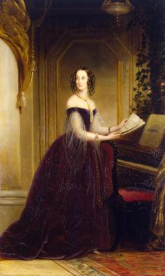 Кристина Робертсон. Портрет великой княжны Марии Николаевны.  1841
