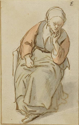 Адриан Янс ван Остаде. Сидящая крестьянка