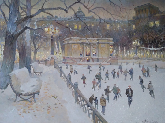 George Lapchinsky. On the rink