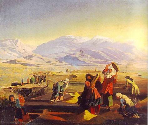 Григорий Григорьевич Гагарин. «Провеивание зерна на Северном Кавказе»