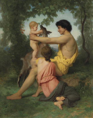 William-Adolphe Bouguereau. The idyll, an ancient family.