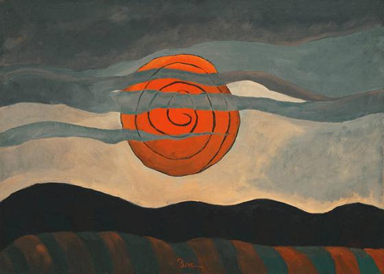 Arthur Dove. Red sun