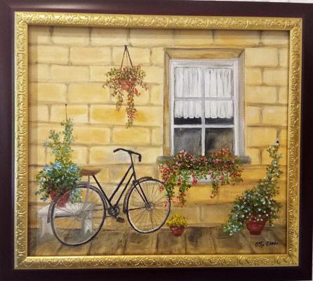 Ольга Болеславовна Горпинченко. Bicycle at the window
