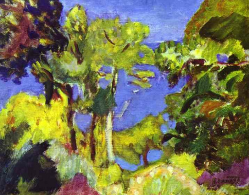 Pierre Bonnard. The landscape on the French Riviera