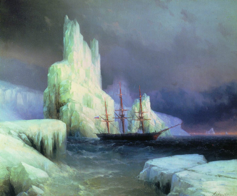 Ivan Aivazovsky. Ice mountains in Antarctica