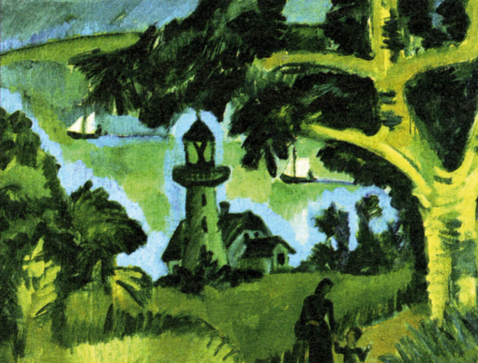 Ernst Ludwig Kirchner. The lighthouse on the island of Fehmarn