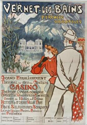 Theophile-Alexander Steinlen. Casino in Vernet-Les-Bains