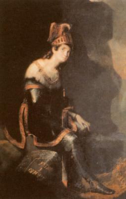 Fedor (Fidelio) Antonovich Bruni. Portrait of a writer book. Zinaida Alexandrovna Volkonskaya in a costume of Tancred