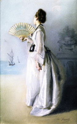 Eva Gonzalez. Lady with a Fan