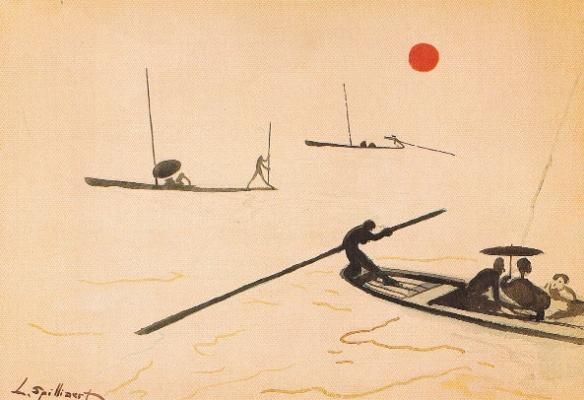 Леон Спиллиарт. Walking on Water (Promenade sur l'eau), 1915 Offa Gallery, Belgium