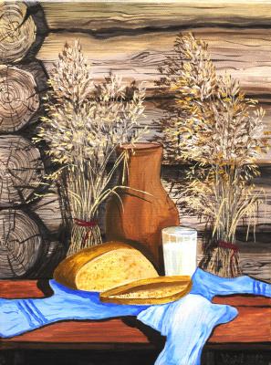 Vladimir Adamovich Ropot. Bread and milk