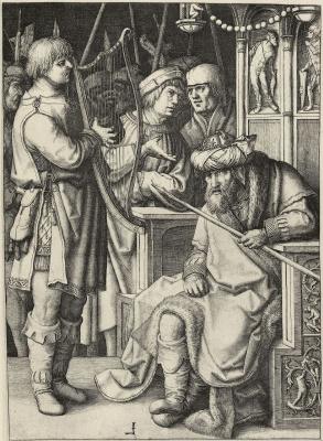 Лукас ван Лейден (Лука Лейденский). Давид перед Саулом