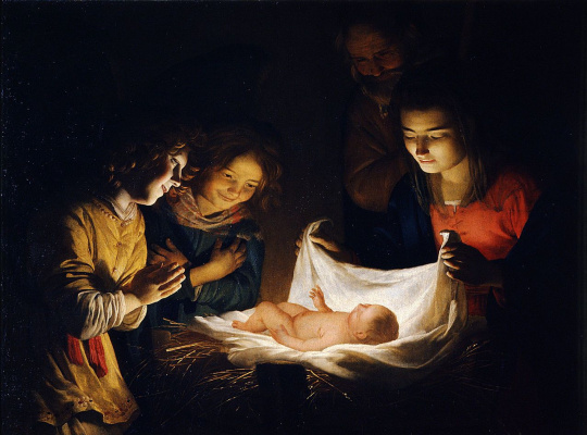 Gerard van Honthorst. Worship The Baby