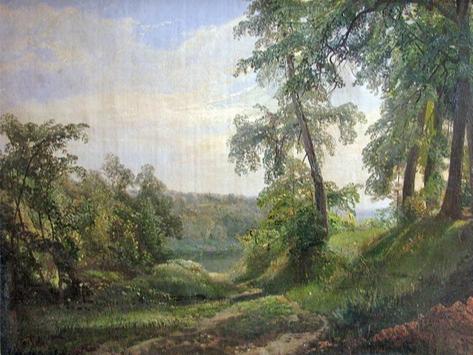 Fedor Ivanovich Yasnovsky. Summer landscape.
