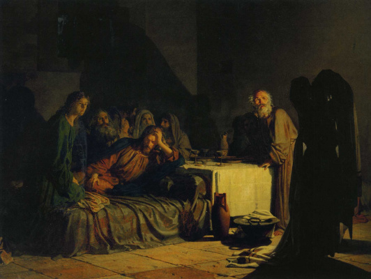 Nikolai Nikolaevich Ge. The last supper