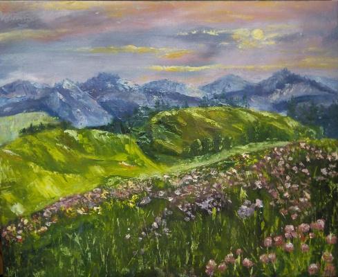 Nataly Yakubovskaya. Sunset in the mountains