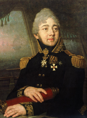 Vladimir Lukich Borovikovsky. Portrait of I. A. Baratynsky, captain-commander. Not earlier than 1808