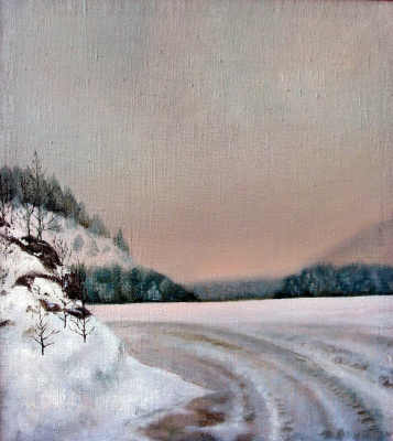Vladimir Vasilyevich Abaimov. Winter Road