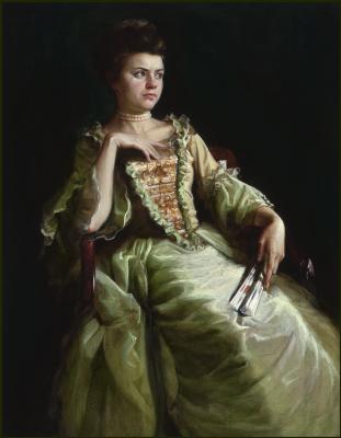 Sushienok64@mail.ru Михайлович Сушенок Игорь. Portrait of a girl. Academic work.