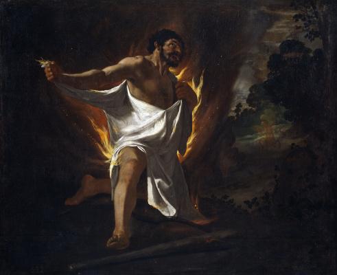 Francisco de Zurbaran. The Death Of Hercules