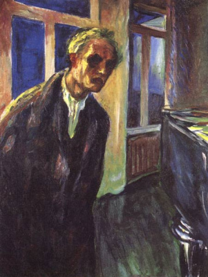 Edvard Munch. A self-portrait. Night wanderer