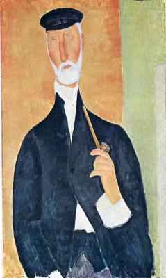 Амедео Модильяни. Мужчина с трубкой (Нотариус из Ниццы)