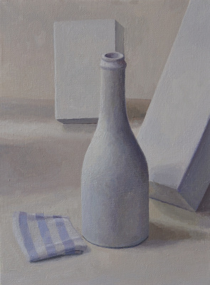 Pavel Viktorovich Petrov. Still life with white bottle