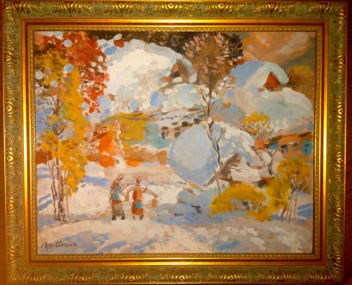 Nikolay Evlampievich Sokolov. Snow fell