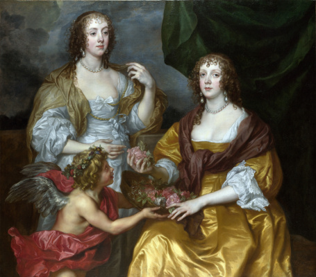 Anthony van Dyck. Lady Elizabeth Dimbelby and her sister