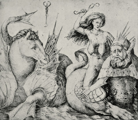 Jacopo de Barbary. The old woman riding on a Triton