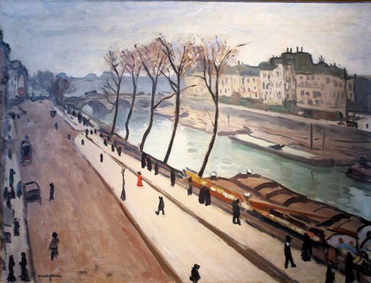 Albert Marquet. The view over the Seine and the quay, the Great Augustinian