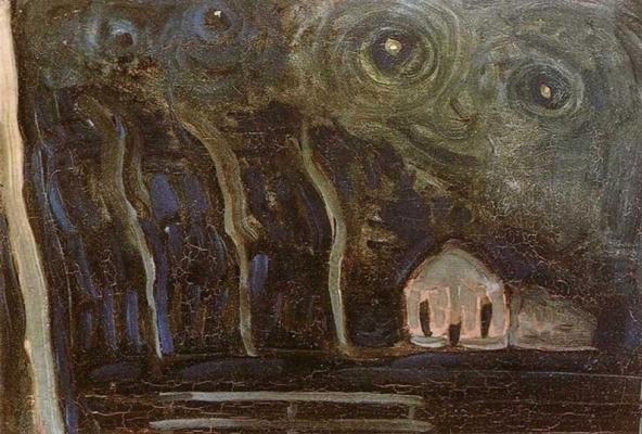 Piet Mondrian. Night landscape