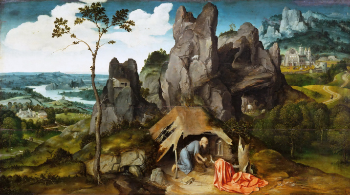 Joachim Patinir. Saint Jerome in the desert
