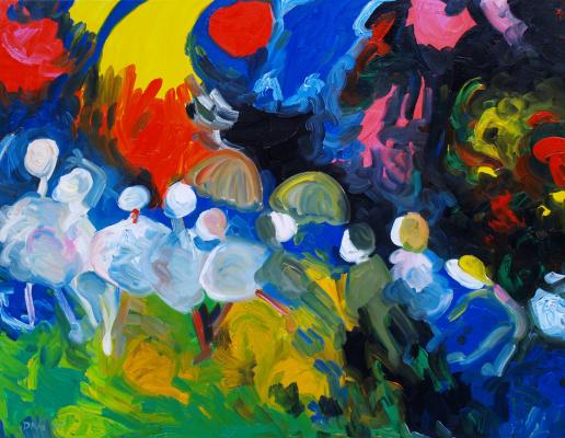 Alexander Ocher Kandinsky-DAE. Walk on a sunny day