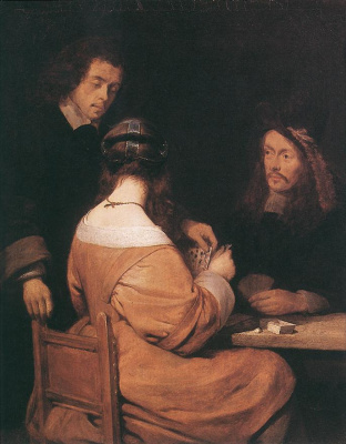 Gerard Terborch (ter Borch). Card players