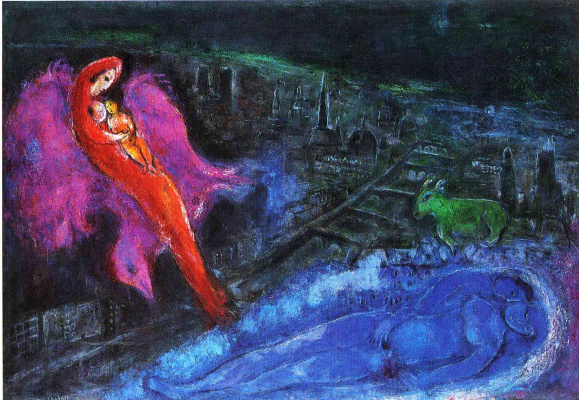 Marc Chagall. Bridges over the Seine