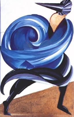"""Александра Александровна Экстер. Первая женская маска. Эскиз костюма к спектаклю """"Ромео и Джульетта"""" У. Шекспира. Московский Камерный театр"""