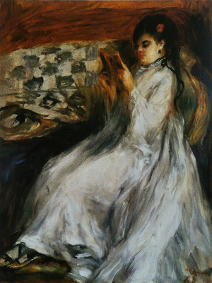 Pierre-Auguste Renoir. Young woman in white reading