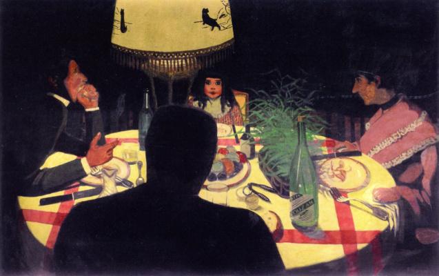 Felix Vallotton. Dinner by the light of the lamp