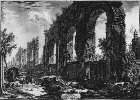 Джованни Баттиста Пиранези. Руины акведука Нерона