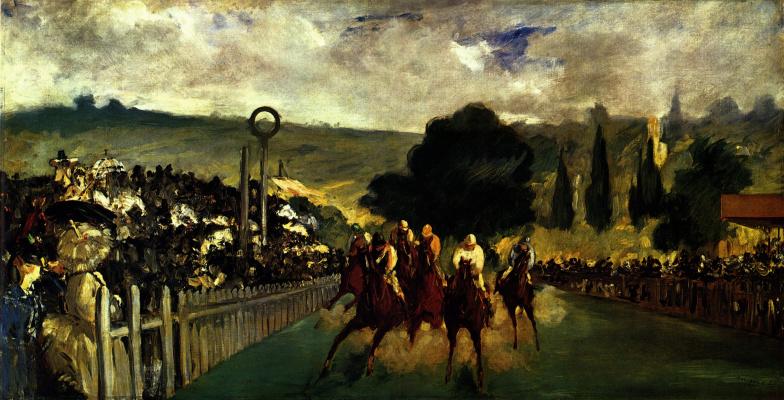 Edouard Manet. Horse race in Longchamp