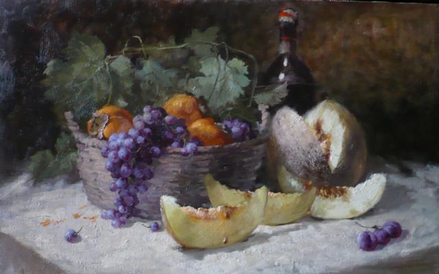 Юрий Николаев. Натюрморт с дыней.  2016