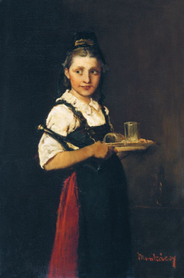Mihály Munkácsy. The girl with the tray