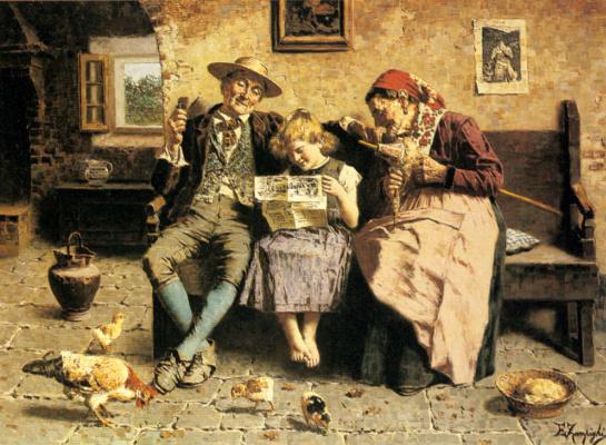 Эухенио Зампиги. Чтение новостей