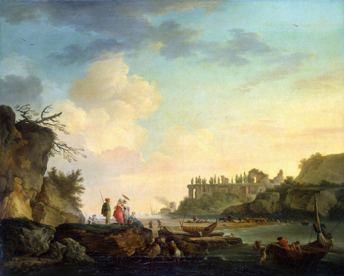 Claude Joseph Vernet. The ruins at the mouth of the river